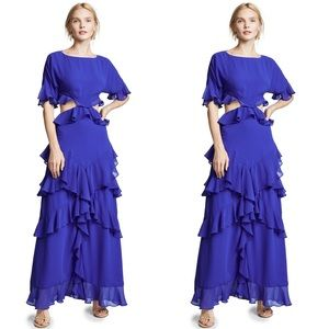 FAME AND PARTNERS Dress Marissa Cobalt Blue Ruffle